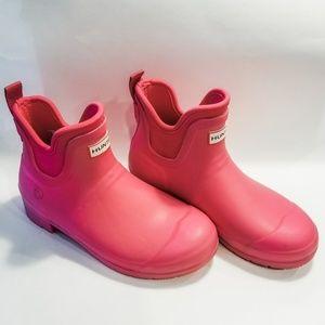 Hunter Short Pink Rain Boots Size 8